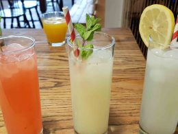 refreshing drinks in tall tumblers at the Eatery